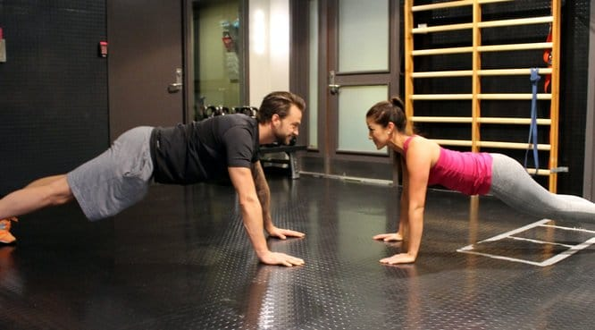 Push-up with high-five