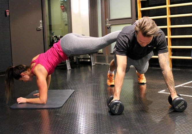 Plank with push-up