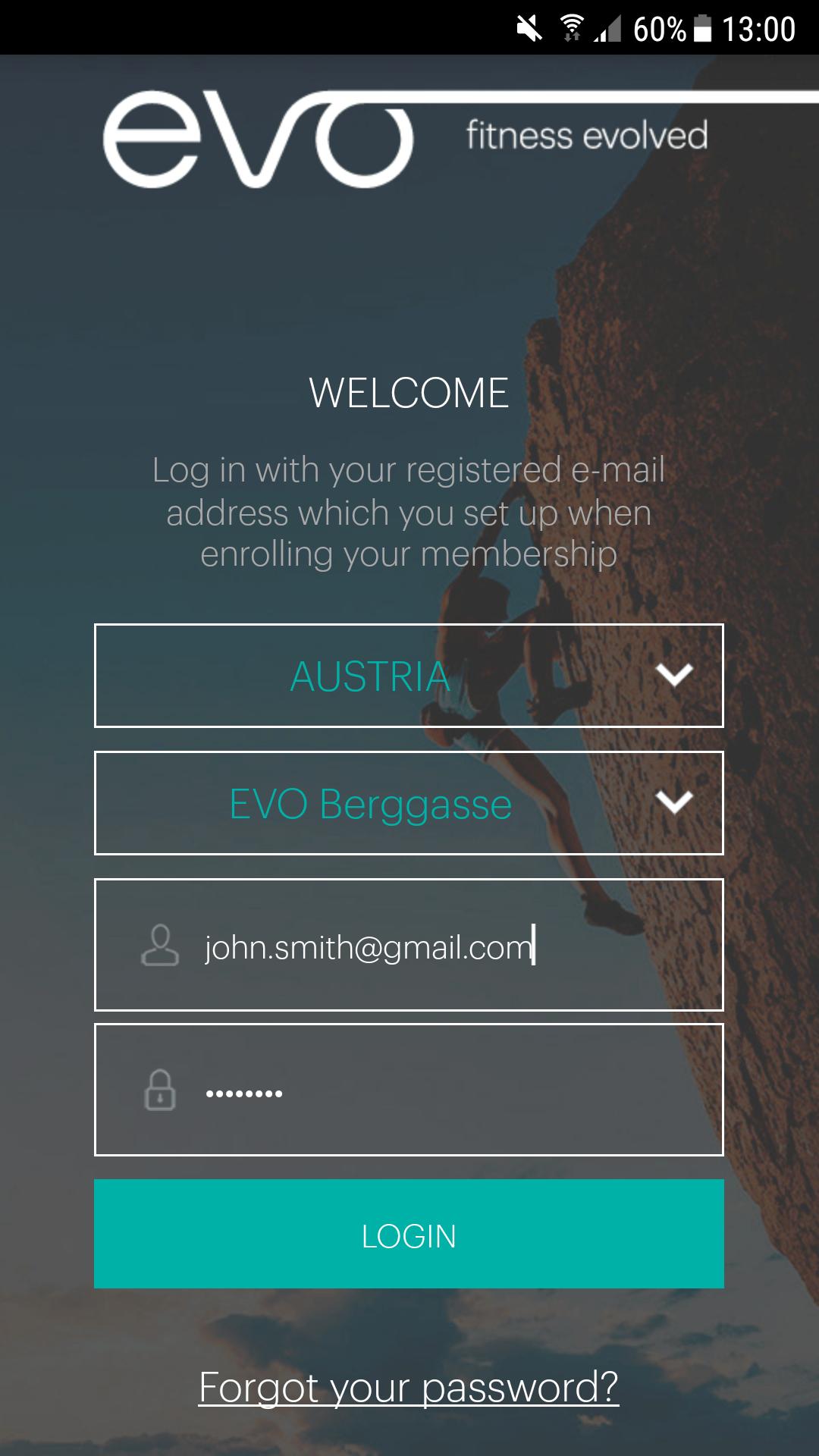 New App Login