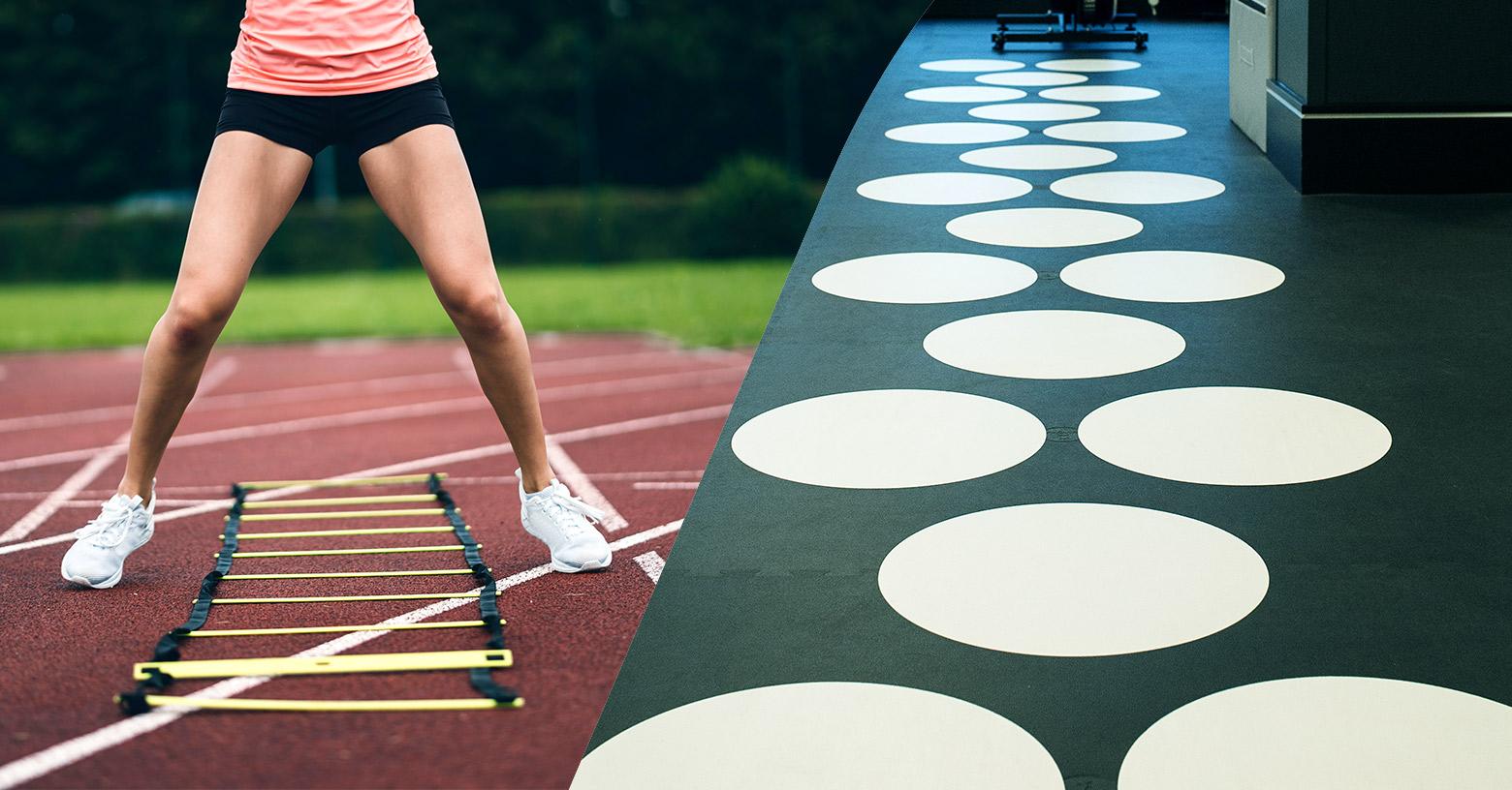 Speed ladders & hopscotch / Koordinationsleiter & Hüpffelder