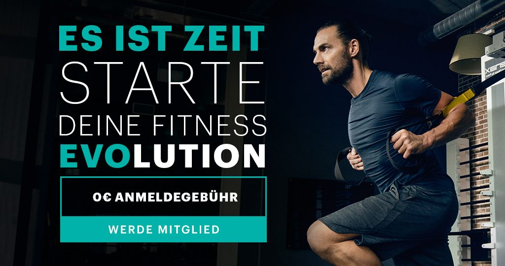 Es ist Zeit. Starte deine Fitness EVOlution.