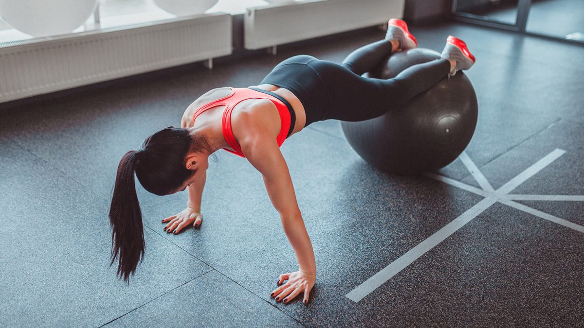 Gymnastikball-Übungen - swiss ball exercises - EVO Fitness